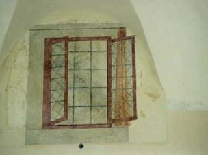Arcata con Affresco dopo il restauro