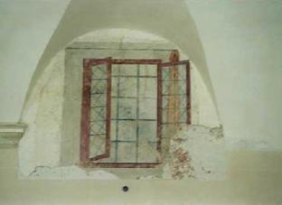 Arcata con Affresco prima del restauro