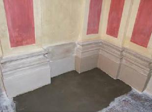 Basamenti per colonne dopo il restauro