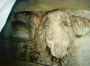 Leone di Venezia prima del restauro
