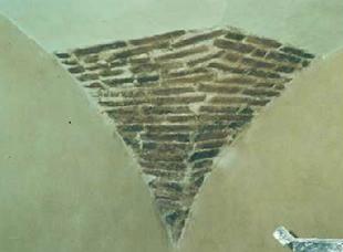 muratura originale volta interna dopo il restauro