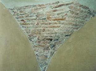 muratura originale volta interna prima del restauro