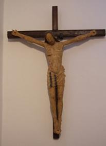 Statua Lignea Raffigurante Cristo, dopo del restauro