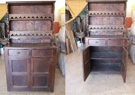 Credenza Antica Da Restaurare : Credenza piattaia a corpo unico in castagno vendita e restauro