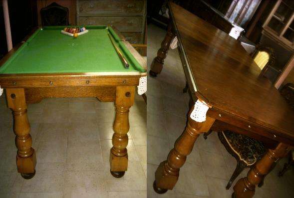 Tavolo da biliardo in legno di rovere a scomparsa - Vendita tavoli da biliardo ...