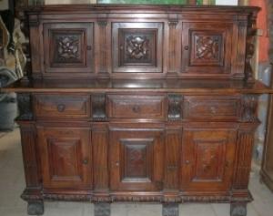 Credenza Legno Da Restaurare : Credenza in legno noce vendita e restauro antichità cosmo antico