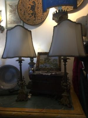 COPPIA  LAMPADE ANTICHE