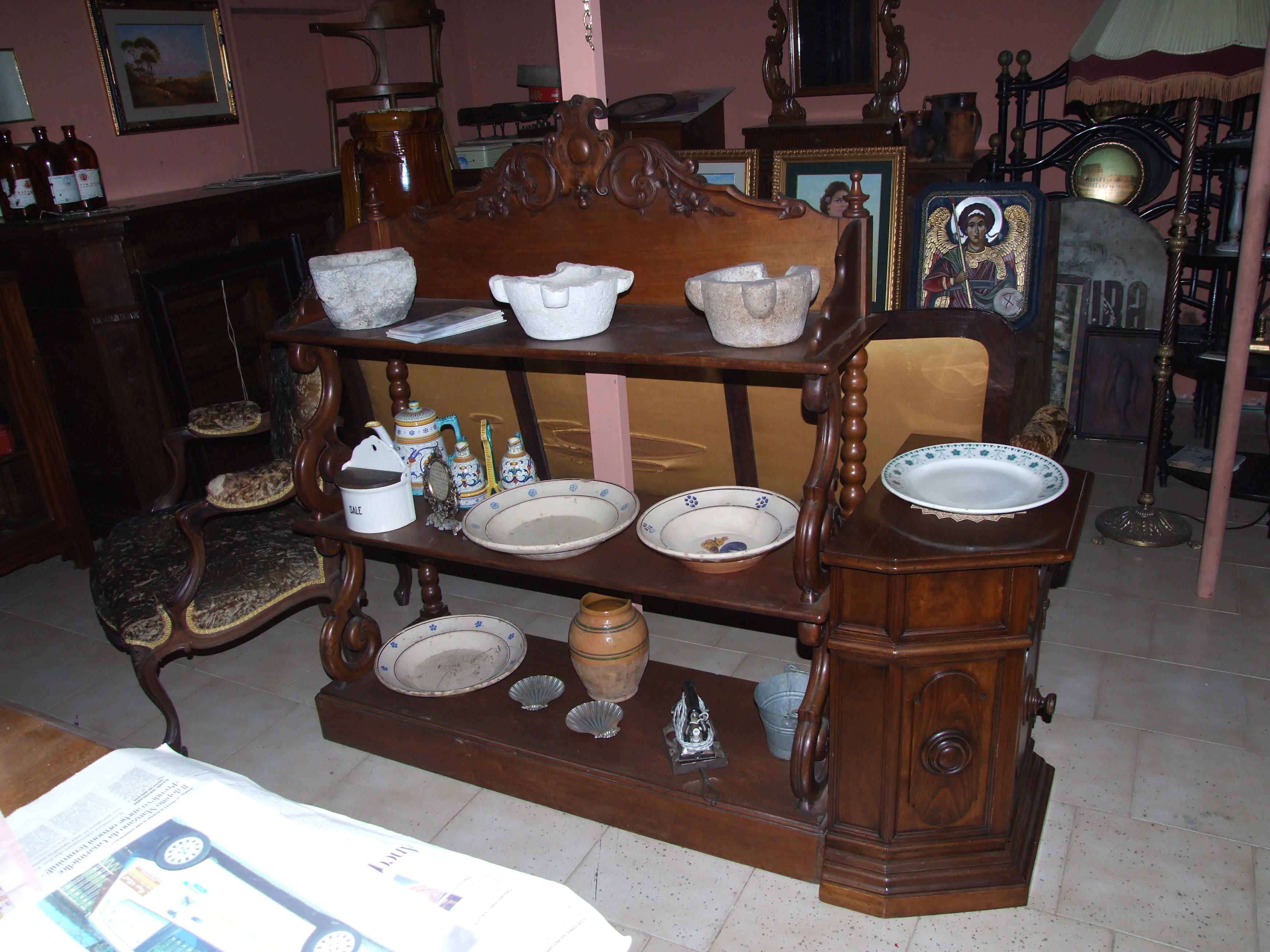 Piattaia luigi filippo in legno noce vendita e restauro for Piattaia antica